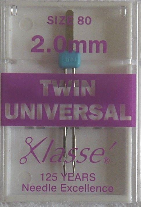 TWIN UNIVERSAL MACHINE NEEDLES  80/12 2.0 MM