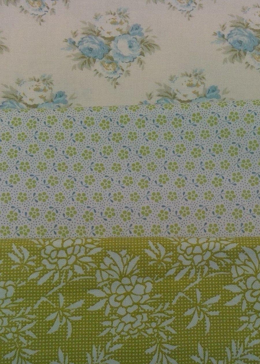 TILDA FAT QUARTER BUNDLE- GREEN AND BLUE FLORAL