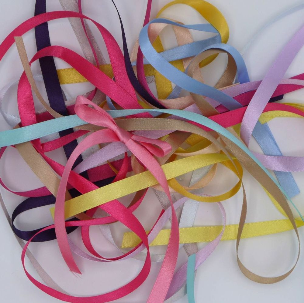 DOUBLE SIDED SATIN RIBBON  10MM