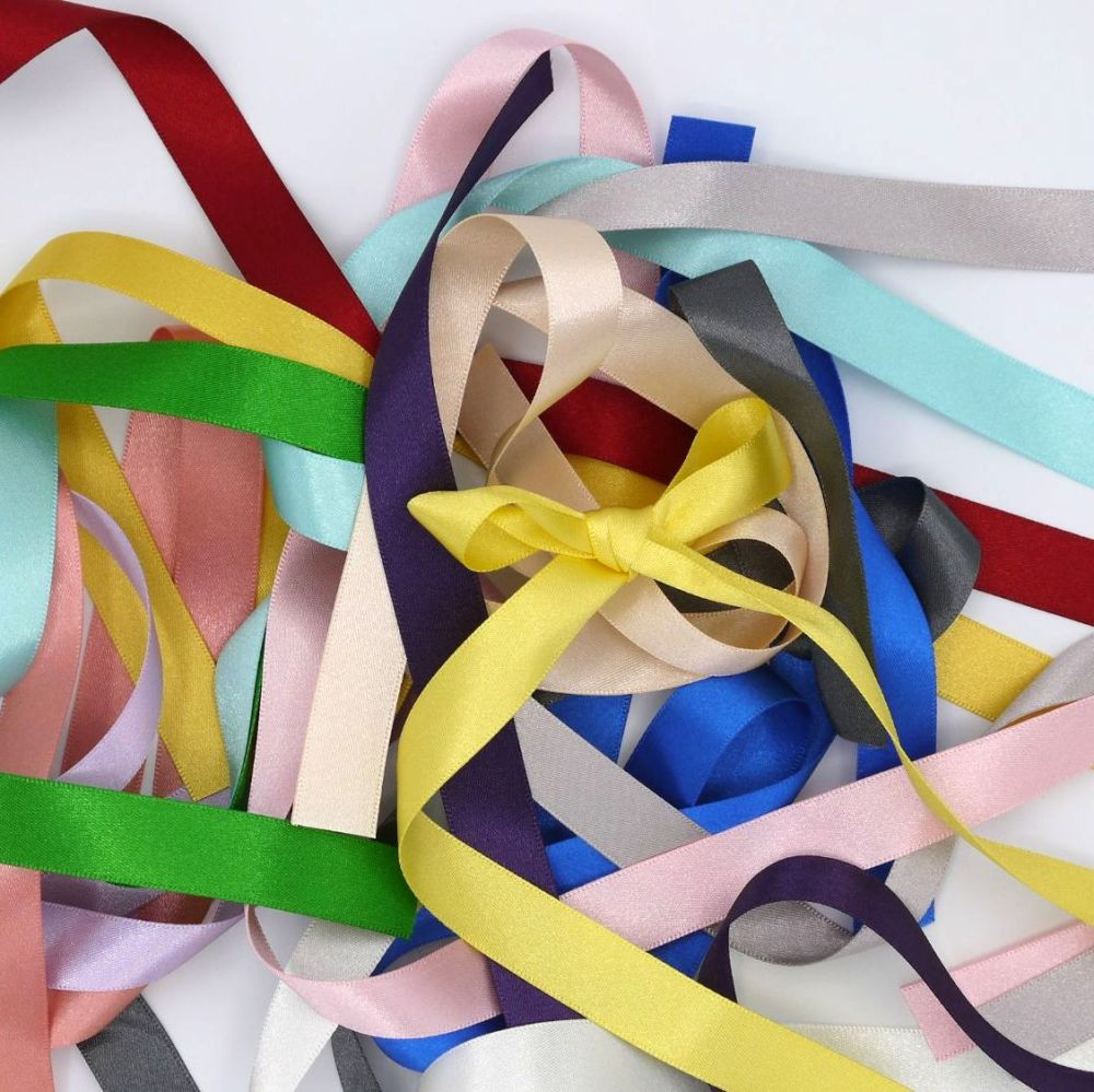 DOUBLE SIDED SATIN RIBBON  15 MM