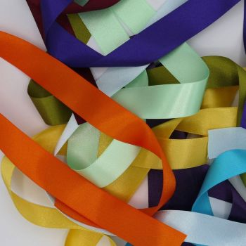 DOUBLE SIDED SATIN RIBBON 25 MM