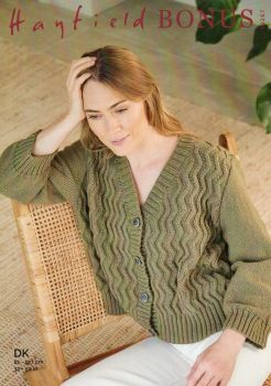 10267 - CARDIGAN PATTERN BY HAYFIELD, FOR DOUBLE KNIT
