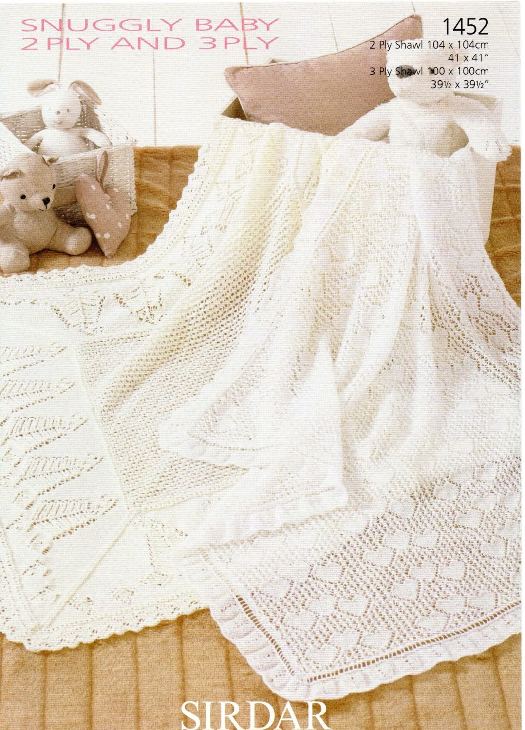 SHAWLS BY SIRDAR IN 2PLY AND 3 PLY