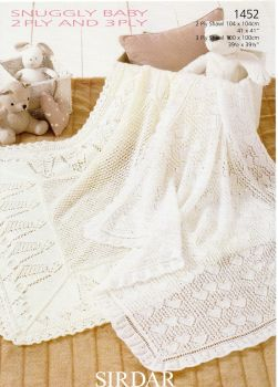 1452 -SHAWLS BY SIRDAR IN 2PLY AND 3 PLY