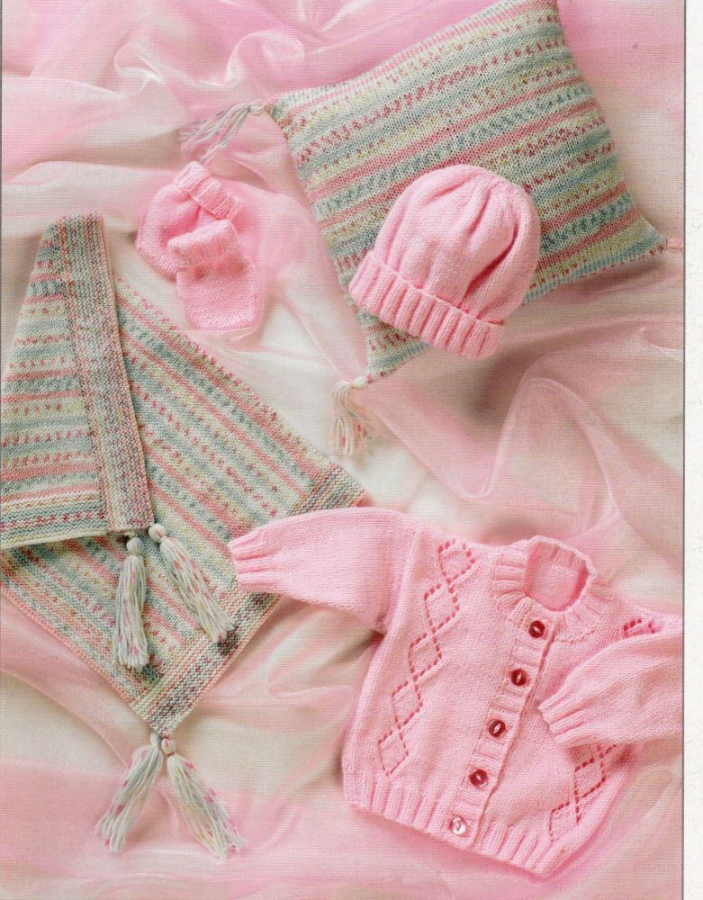 JB004 - PRAM SET BY JAMES BRET IN DOUBLE KNIT