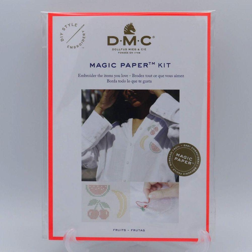 DMC MAGIC PAPER KIT- 'CROSS-STITCHED FRUITS'