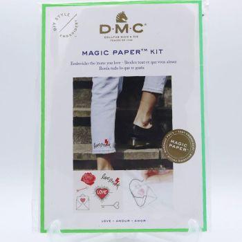 MAGIC PAPER KIT- 'LOVE'  BY DMC