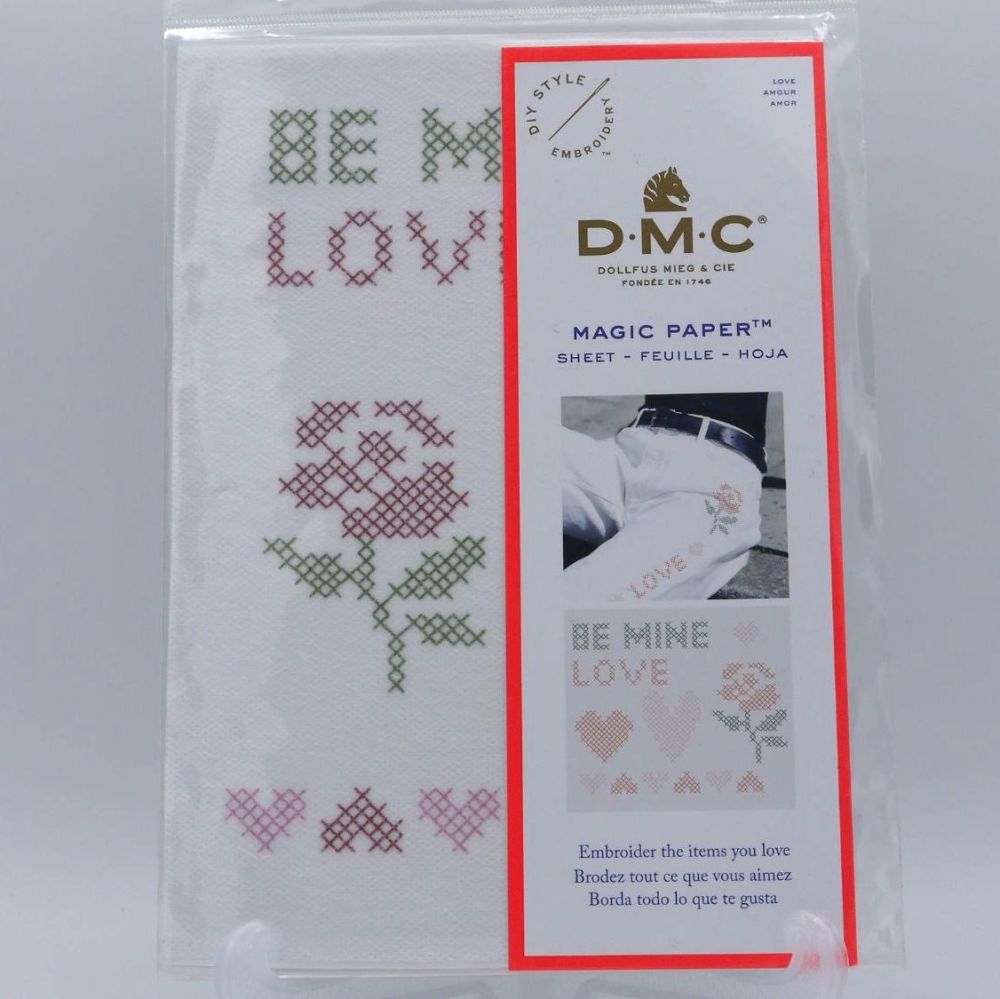 MAGIC PAPER - 'CROSS STITCH LOVE' BY DMC