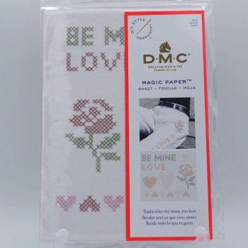 MAGIC PAPER - 'CROSS STITCH LOVE' BY DMC