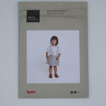 SKIRT WITH STRAPS L6, BY KATIA
