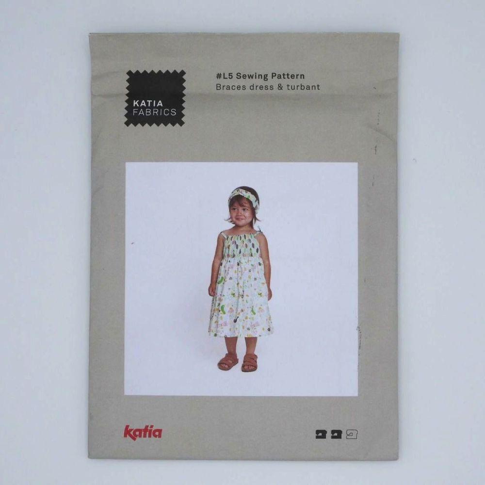 BRACES DRESS AND TURBANT L5 by Katia