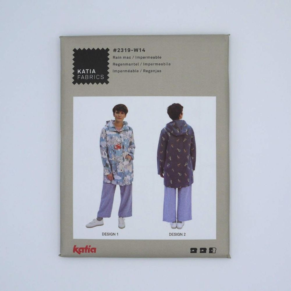 KATIA WOMANS RAIN MAC #2319-W14 DRESSMAKING PATTERN, BY KATIA
