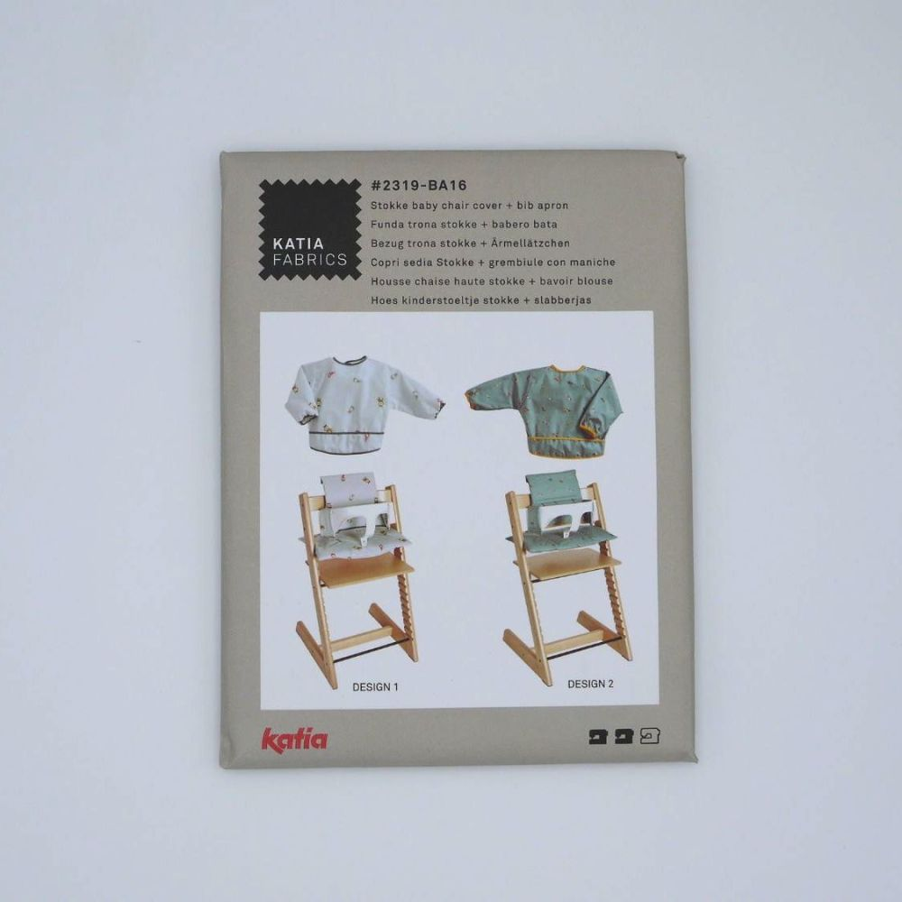STOKKE BABY CHAIR COVER AND BIB APRON 2319-BA16 DRESSMAKING PATTERN, BY KA