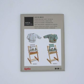 STOKKE BABY CHAIR COVER AND BIB APRON 2319-BA16 DRESSMAKING PATTERN, BY KATIA