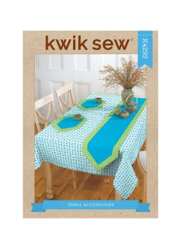 K4293 - TABLE CLOTH PLACE MATS AND TABLE RUNNER , SEWING PATTERN