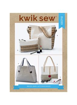 K4289 - TOTE BAG AND ACCESSORIES, SEWING PATTERN