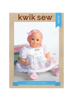 K4283- BABY DOLL OUTFITS, SEWING PATTERN