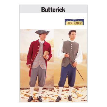 B3072 - MENS COSTUMES FROM THE 18TH CENTURY, SEWING PATTERN