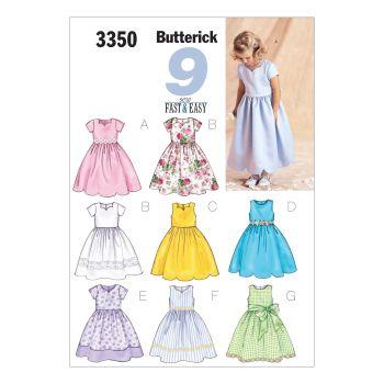 B3350- GIRLS DRESS , SEWING PATTERN