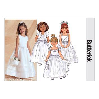 B3351- GIRLS  JACKET AND DRESS, SEWING PATTERN
