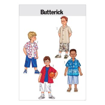 B3475 - BOYS SHIRT AND SHORTS , SEWING PATTERN