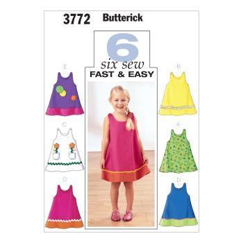 B3772-  GIRLS DRESS , SEWING PATTERN
