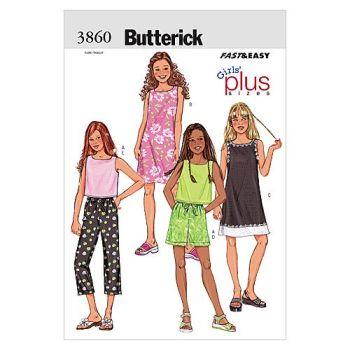 B3860- GIRLS TOP SHORTS AND PANTS, SEWING PATTERN