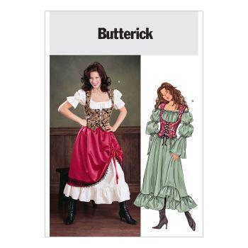 B3906 - SASSY LADIES COSTUMES, SEWING PATTERN