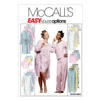 M2476- MISS ROBE, GOWN, TOP PANTS NAD SHORTS, SEWING PATTERN