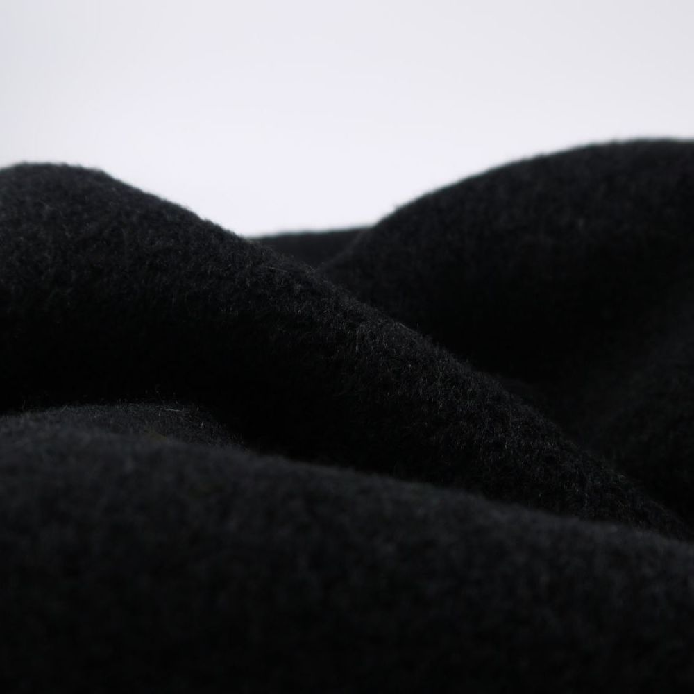 TEXTURED BLACK  WINTER COAT FABRIC