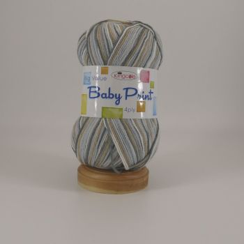 BABY PRINT -   BY  KING  COLE  A BEAUTIFUL SOFT YARN