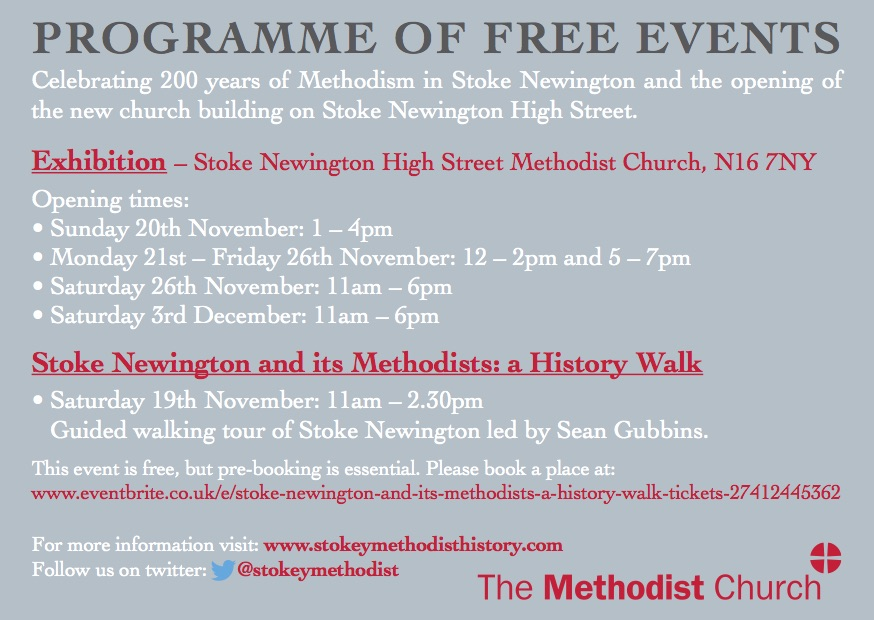 stoke newington high street methodist church opening service invite 2
