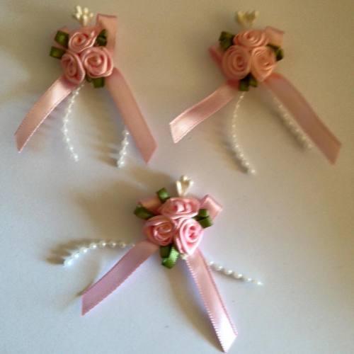 Pink Rose Cluster (each)