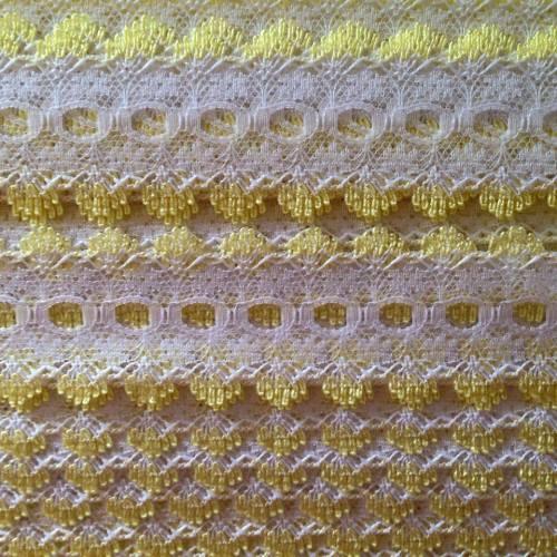 Eyelet Lace - Lemon (per metre)