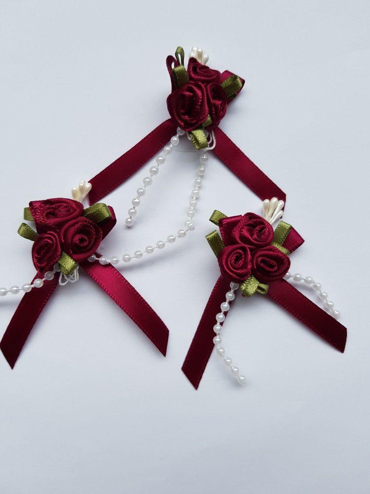 Burgundy Rose Cluster (each)