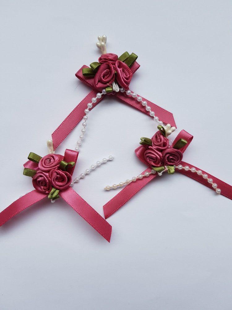 Dusky Pink Rose Cluster (each)