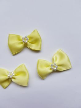 Lemon Bow with Bead Centre (each)