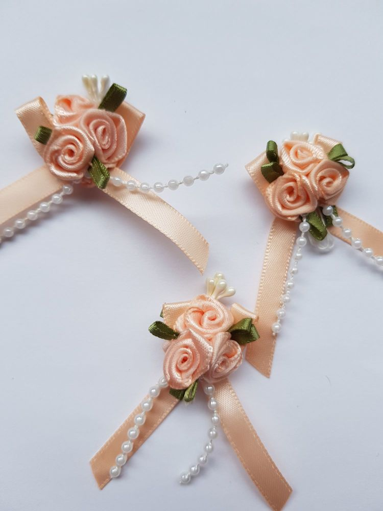 Peach Rose Cluster (each)