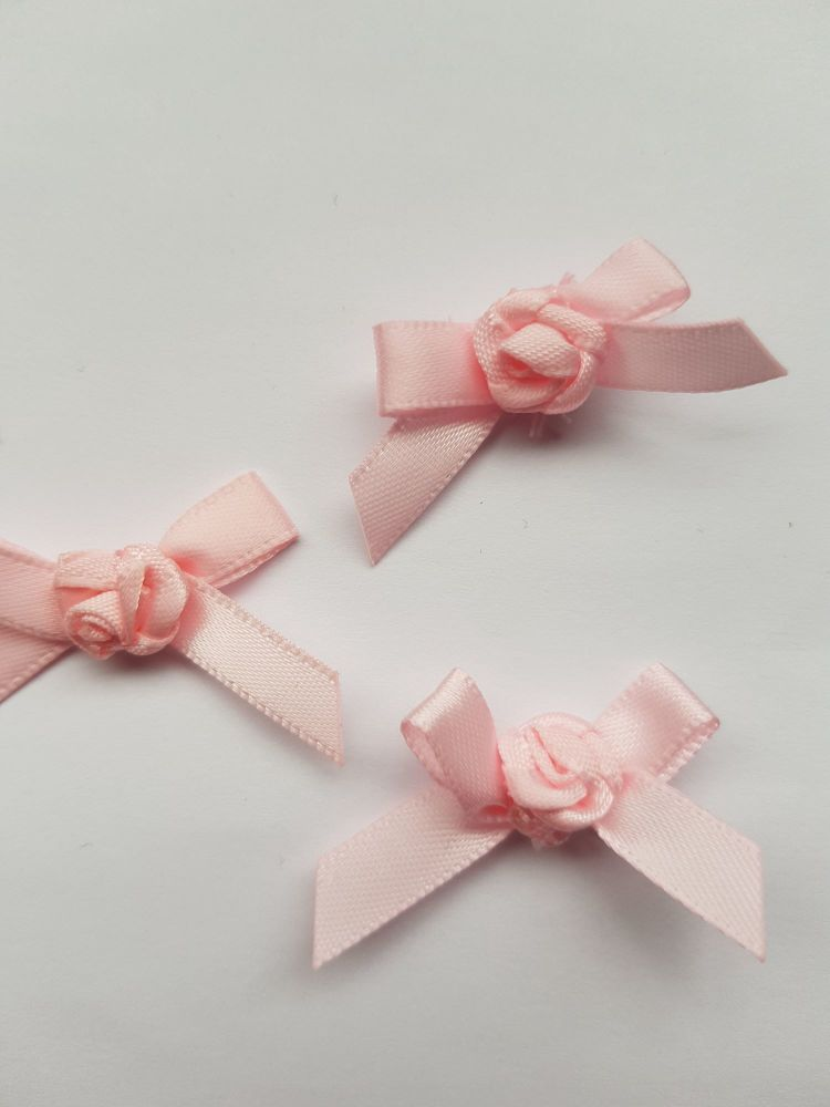 Pink Ribbon with Rose Centre (each)