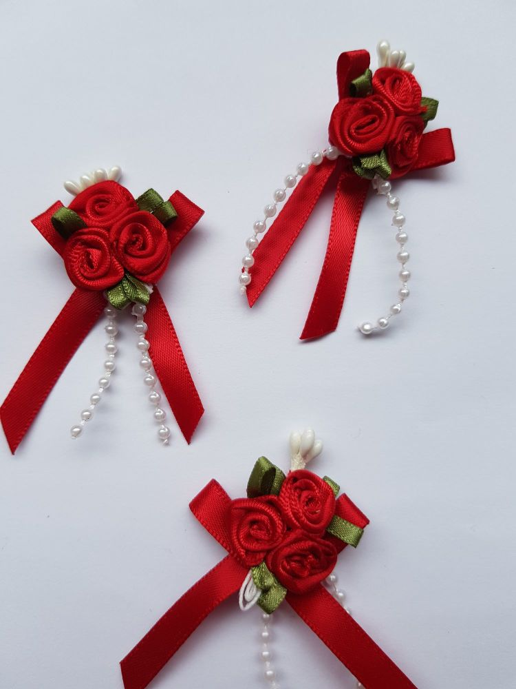 Red Rose Cluster (each)