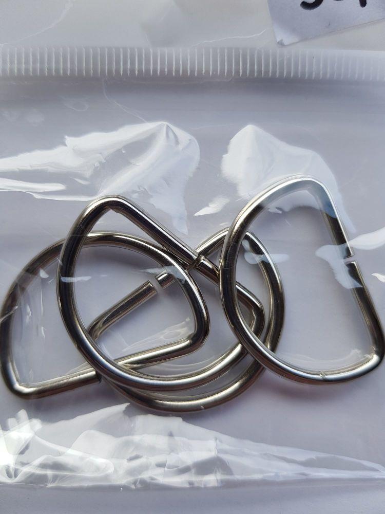 D Rings 25mm (Pack of 4)
