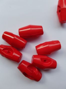 Red Toggle 19mm (each)