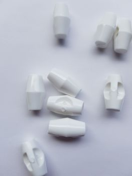 White Toggle 19mm
