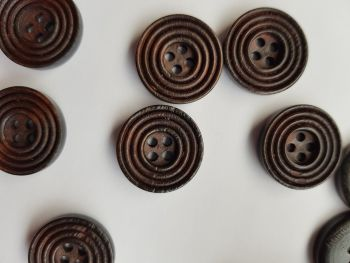 Brown Wooden Button 20mm (each)