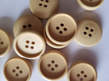 Cream/Beige Button 20mm ( Pack of 10)
