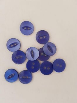 Royal Blue Fisheye Button 19mm (Pack of 8)