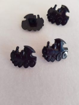 Navy Train Button 15mm (pack of 6)