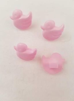 Pink Duck Buttons -(pack of 8)