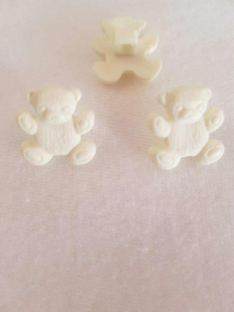 Cream Teddy Button 16mm (Pack of 8)