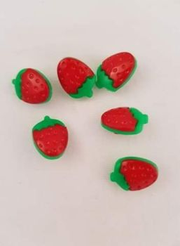 Strawberry Button 16mm (Pack of 10)